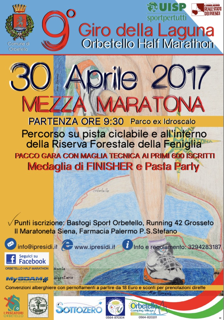 MEZZA MARATONA ORBETELLO 2017
